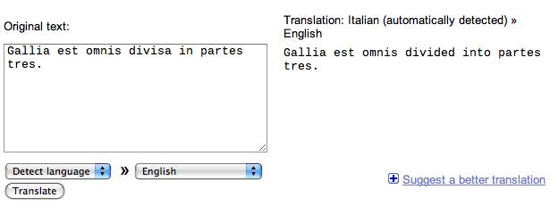 'Gallia est omnes divisa...' recognized as Italian