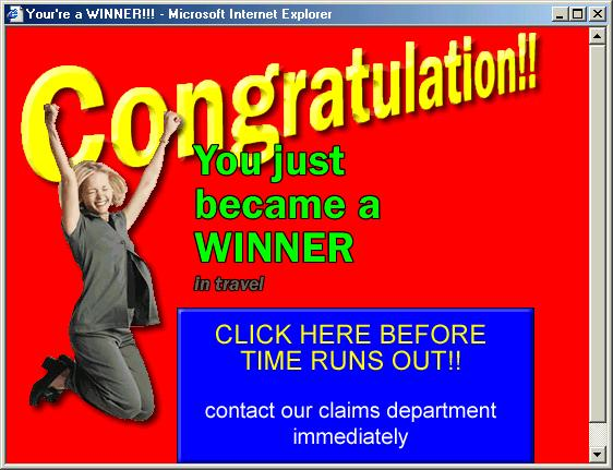 Your're a winner - Congratulation!