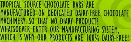 No diary products