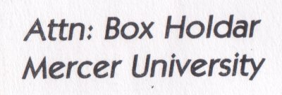 Attention: Box Holdar