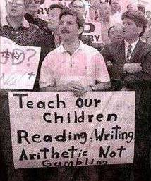 Teach our children reading, writing, arithetic...