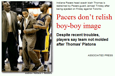Pacers don't relish boy-boy image